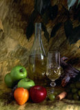 White Wine And Fruist Royalty Free Stock Images