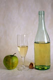 White wine and apple Royalty Free Stock Photo
