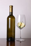 White wine and apple Royalty Free Stock Image
