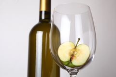 White wine and apple Stock Image