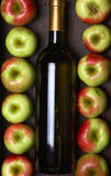 White wine and apples Stock Photos