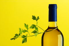 White Wine bottle Stock Photo