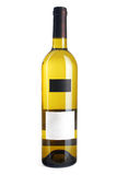White wine bottle. Isolated background Stock Image