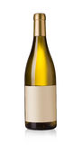 White wine bottle. With blank labels Stock Image