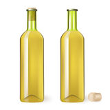 White wine bottle. On white background Stock Photography