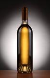 White Wine Bottle Backlit Stock Photography