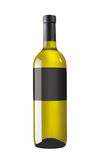 White wine bottle with black label Stock Image