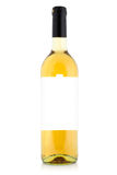 White wine bottle with blank label Stock Photography