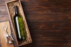 White wine bottle royalty free stock image