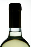 White wine bottle closeup Royalty Free Stock Photography