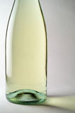 White wine bottle closeup Stock Photo
