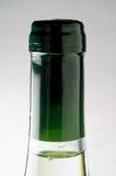 White wine bottle closeup (neck) Royalty Free Stock Photography