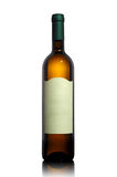 White wine bottle with empty label Royalty Free Stock Photos