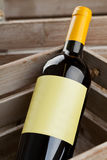 White wine bottle Royalty Free Stock Images