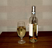 White wine in bottle Stock Photo