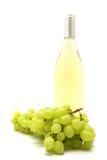 White wine bottle and grape Stock Image