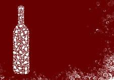 White wine bottle Stock Images
