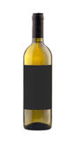 White wine bottle isolated with blank label. Royalty Free Stock Photos
