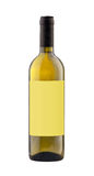 White wine bottle isolated with blank label. Stock Photography