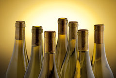 White wine bottles Royalty Free Stock Images