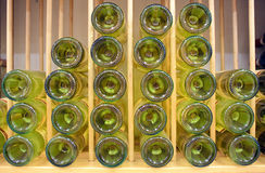 White wine bottles Stock Photo