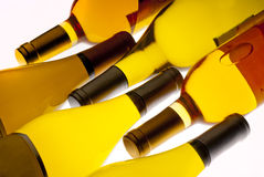 White wine bottles royalty free stock photo