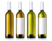 White wine bottles Stock Photos