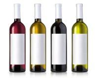 White wine bottles Stock Photos