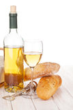 White wine and bread Stock Images