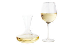 White wine carafe Royalty Free Stock Images
