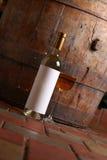 White wine in cellar Royalty Free Stock Photos