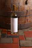White wine in cellar Stock Photography