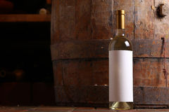 White wine in cellar Royalty Free Stock Photography