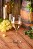 White wine in the chalice Stock Photo