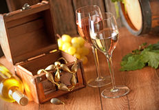 White wine in the chalice Royalty Free Stock Photo
