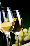 White wine and cheese Royalty Free Stock Images