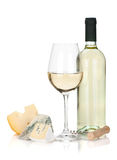 White wine and cheese Royalty Free Stock Photos