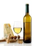 White wine and cheese Stock Photos