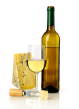 White wine and cheese Royalty Free Stock Photography