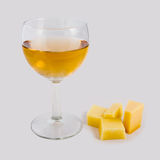 White wine and cheese Royalty Free Stock Photo