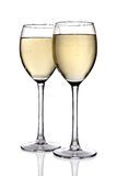 White wine with clipping path Stock Photo