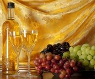 White wine composition stock photos