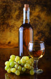 White wine composition Stock Images