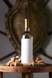 White wine with corks Royalty Free Stock Image