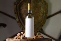 White wine with corks Royalty Free Stock Photo