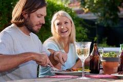 White wine couple Royalty Free Stock Photos