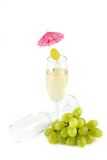 White wine and empty glass Stock Photos
