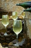 White wine fountain Stock Images