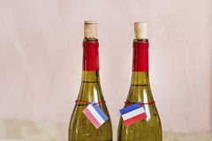 White wine french bottles Stock Images