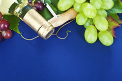 White wine and fresh grape Royalty Free Stock Photo